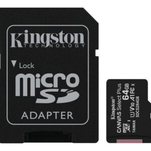 Kingston Canvas Select Plus – Flash-Speicherkarte – 64 GB – microSDXC UHS-I
