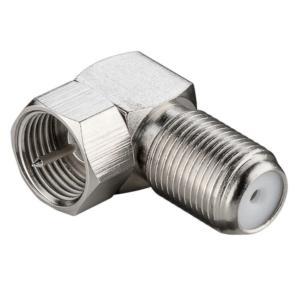 Winkeladapter: F-Stecker > F-Buchse 90°