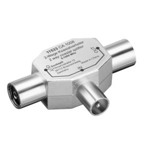 Koax T-Adapter: 2x Koax-Buchse > Koax-Stecker