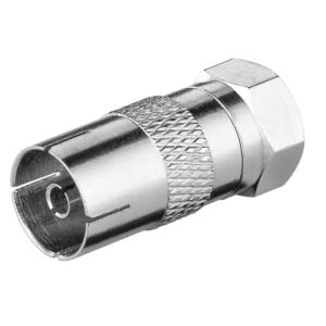 F-Adapter: F-Stecker > Koax-Buchse