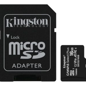Kingston Canvas Select Plus – Flash-Speicherkarte – 16 GB – microSDHC UHS-I