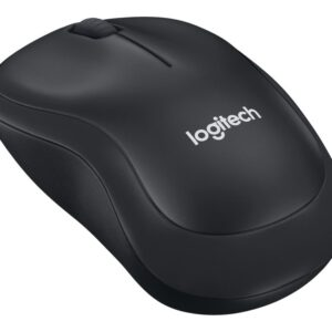 Logitech M220 Silent Maus, 2.4 GHz, Holzkohlefarben