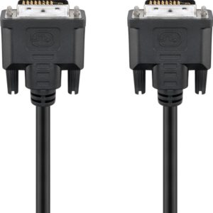 DVI-D Full HD Kabel Dual Link, Nickel, 2m