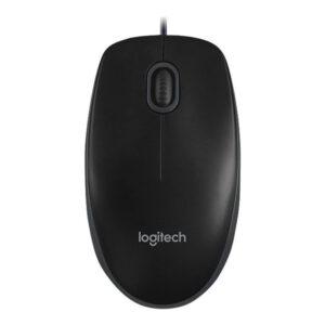 Logitech B100 Maus, USB, Schwarz