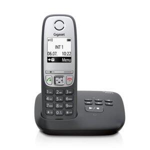 Gigaset 415A schnurloses Telefon mit Anrufbeantworter schwarz