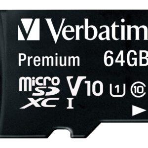 Verbatim Premium – Flash-Speicherkarte – 64 GB – microSDXC UHS-I