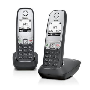 Gigaset A415 Duo 2 Schnurlose Telefone ohne Anrufbeantworter schwarz